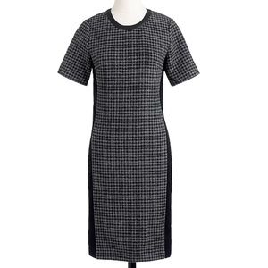 J. Crew Mixed Houndstooth dress, size 6
